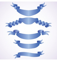 set of blue banners vector image