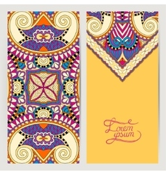 Yellow decorative label card for vintage design vector