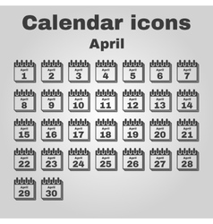 The calendar icon april symbol flat vector