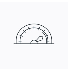 Speedometer icon speed tachometer with arrow vector