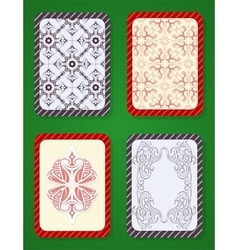 Playing card deck design vector