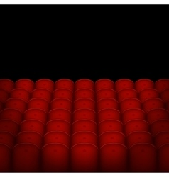 Red cinema or theater seats with black blank vector