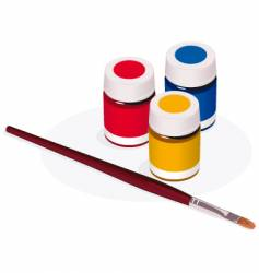 paintbrush and paint pots vector image