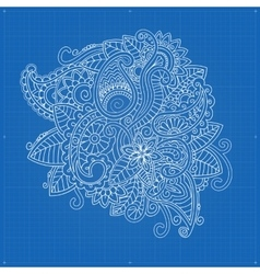 Floral ornamental doodle pattern vector