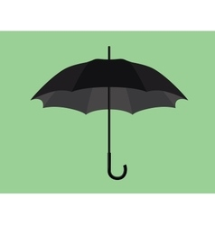 Black umbrella object isolated with green vector