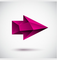 3d magenta right arrow vector image