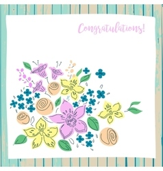 Congratulation card on wood background vector