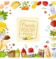 Healthy food poster vector