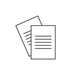 Outline document icon vector