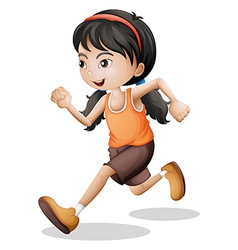 A teenager jogging vector image vector image