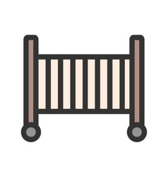Baby cot vector