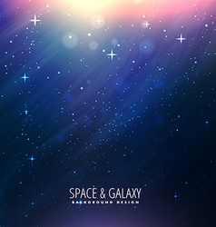 Beautiful space background vector