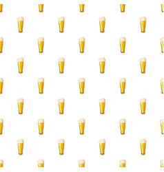 Beer glass pattern vector