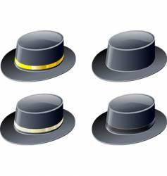 black hats vector image vector image
