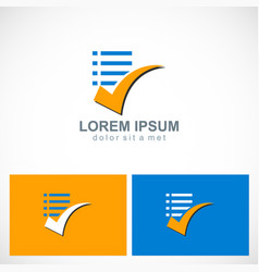 Check list document logo vector