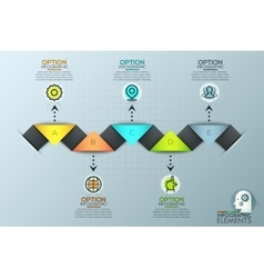 Colorful Infographic Design Template With vector image vector image