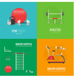 Fitness and a healthy lifestyle concept banner vector