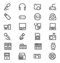 Gadgets Line Icons 1 vector image vector image
