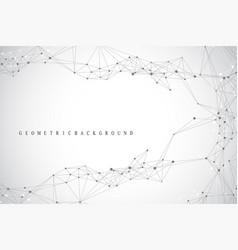 Geometric graphic background molecule and vector