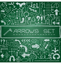 Hand drawn arrow icons set with question and vector image