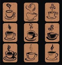 Hand Drawn Coffee Cup Icon vector image vector image