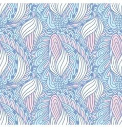 Hand drawn swirl fashion seamless pattern Doodle vector image