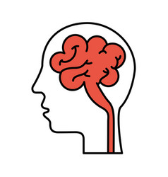 Human head and brain icon mind concept vector