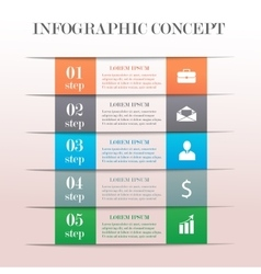 Infographic banner concept vector image