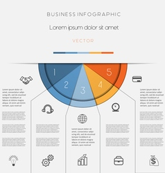 Infographic color semicircle on five positions vector image vector image