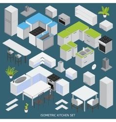 Isometric Kitchen Elements Set vector image vector image