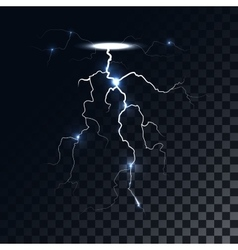 lightning light effect vector image