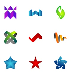 Logo design elements set 73 vector