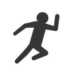 man running silhouette vector image vector image