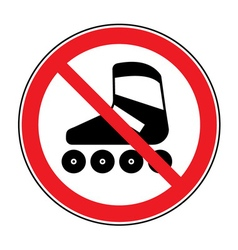 no roller sign vector image