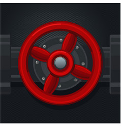 red metal valve retro tool for analogue interface vector image