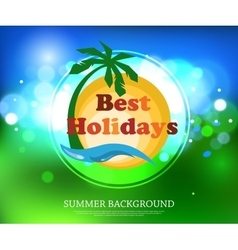 Shining summer typographical background with vector image vector image