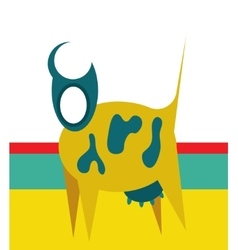 Suprematism cow vector image