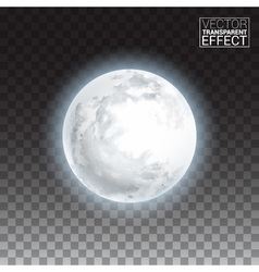 Realistic detailed full big moon isolated on vector