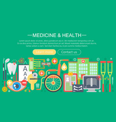 Medicine and health design concept set with vector