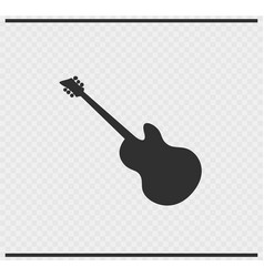 guitar icon black color on transparent vector image