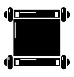 Old scroll parchment icon  simple style vector