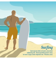 Surfing summer poster vector