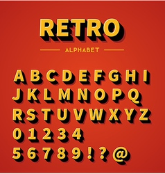 Retro alphabet set vector
