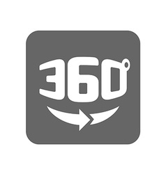 Panorama logo full 360 degree rotation icon vector