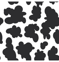 Abstract seamless pattern - black spots on white vector