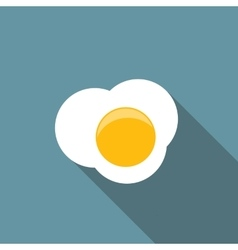 Scrambled egg flat icon with long shadow vector