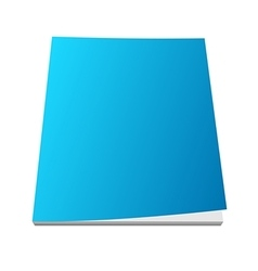 Blank blue magazine cover vector