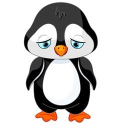 Sad Penguin vector image