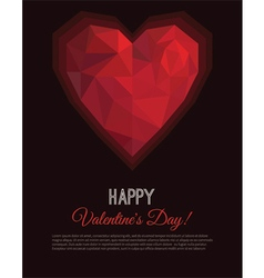 Greeting card valentines day in low poly style vector