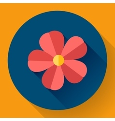Frangipani flower icon nature symbol - vector